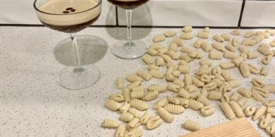 Friday night lockdown treat gnocchi and espresso martini